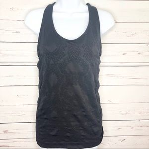 DANSKIN NOW Women's Racerback Black Tank Top LG
